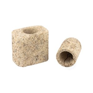 E27 rockypaper rounded lamp holder in cement beige color