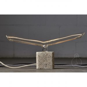 E27 rockypaper rectangle lamp holder in cement beige color