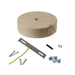Wood ceiling rose for nautical rope accessories kit included
