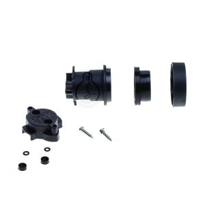 E27 lamp holder for installation, black color, accessories kit included