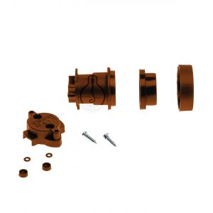 E27 lamp holder for installation, corten color, accessories kit included