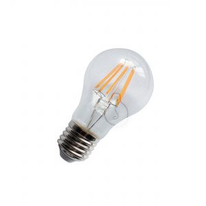 Led bulb, E27, drop, clear glass, warm light, energy class A++, not dimmable