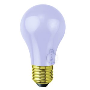 Led bulb, E27, drop, white plastic, warm light, energy class A++, not dimmable