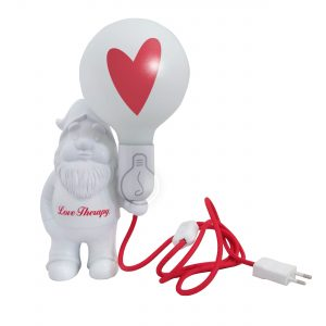 Hearthy – Ceramic table lamp – Midget Love Therapy – Bulb with tatoo heart included
