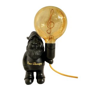 Black Melody – Ceramic table lamp – Midget Love Therapy – 'Treble clef' amber bulb included